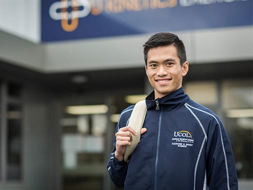 International Exercise and Sport Science student standing outside U-Kinetics
