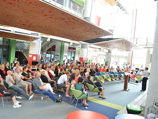 UCOL staff gathered for announcement of staff awards
