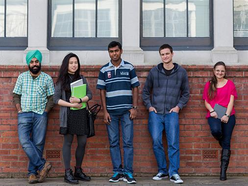 A photograph of international students at UCOL