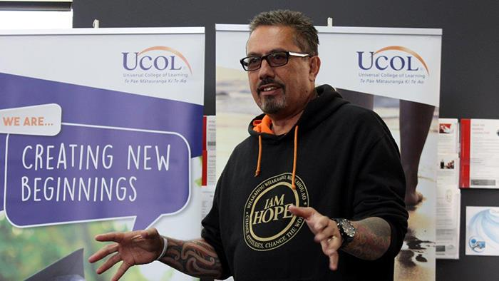 Mike King speaks at UCOL