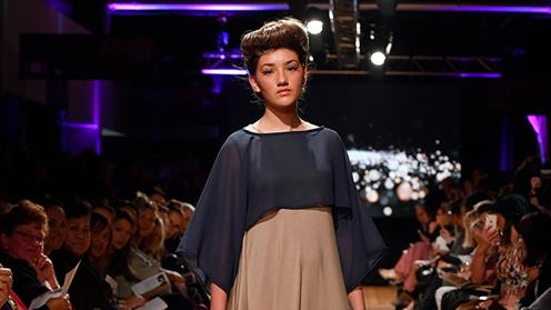 A photograph of UCOL fashion student Paige MacDonald's signature entry for NZ Fashion Week.