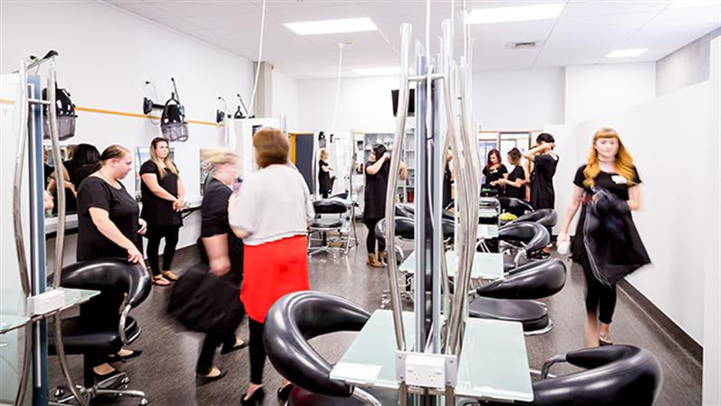 Students in UCOL's Palmerston North salon