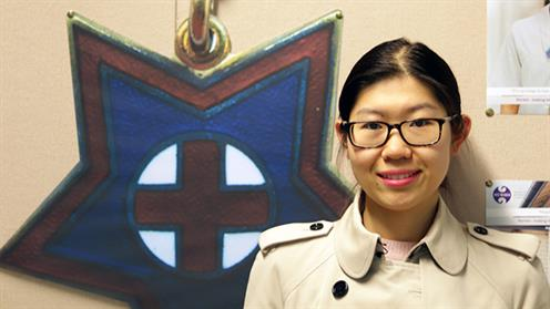 A photograph of UCOL nursing student Xiuming Ma